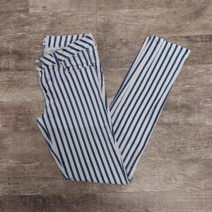 Aeropostale Blue and White Striped Jeans